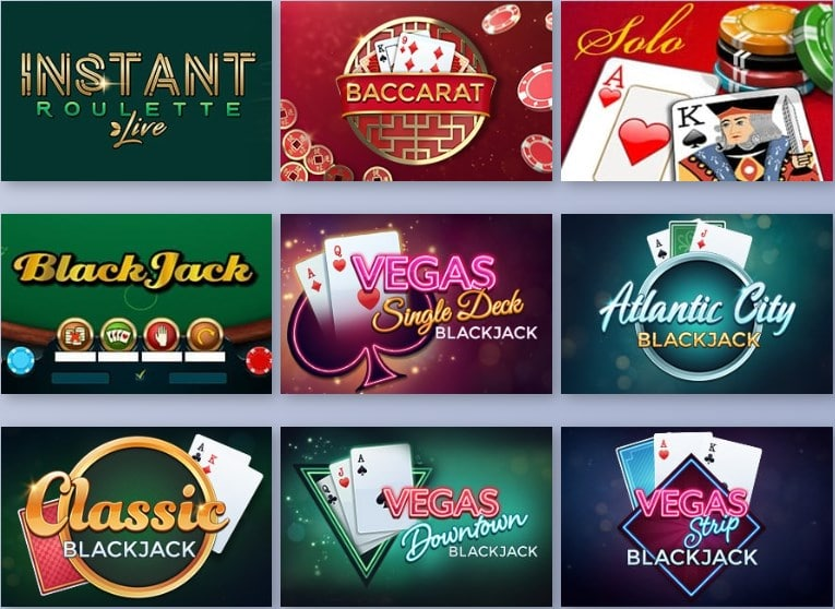 Casiplay Casino Table Games