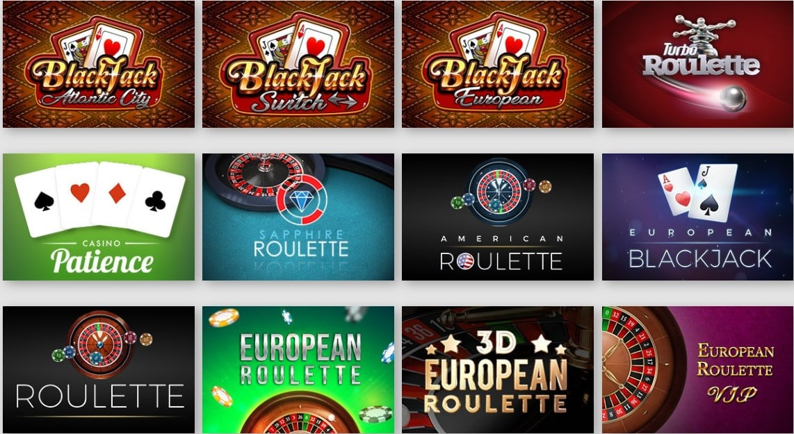 PlayLuck Casino Table Games