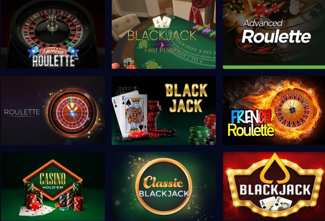 Genesis Casino Table Games