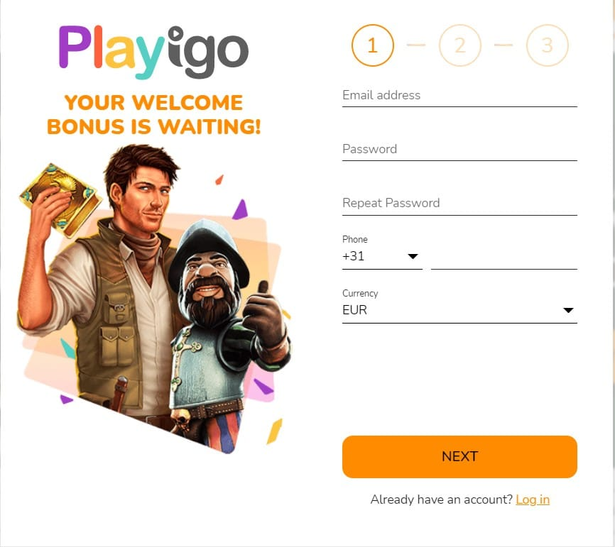 Playigo Casino Registration