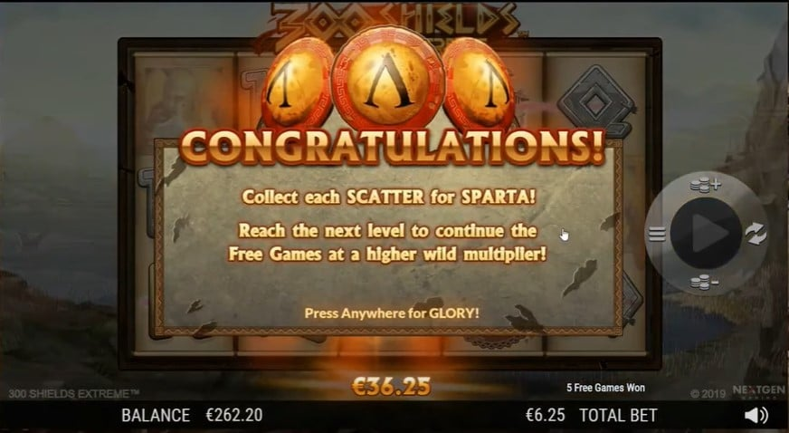 300 Shields Extreme Free Spins
