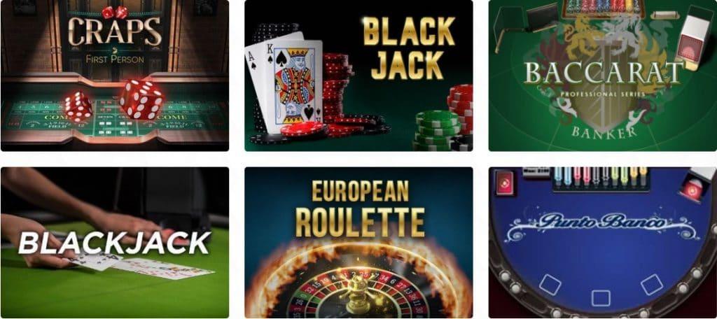 Casino Dome table games