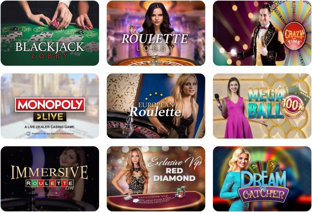 Pelaa live casino
