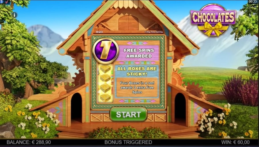 Chocolates Slot Free Spins