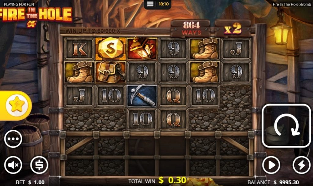 Fire in the Hole Slot theme