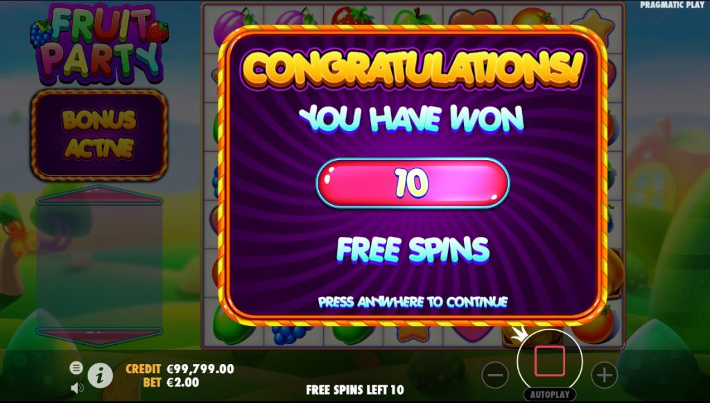 Fruit Party free spins