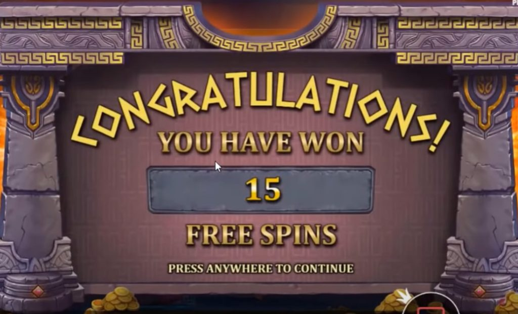 The Hand of Midas free spins