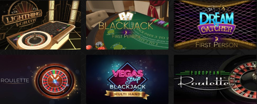 Casino Masters table games